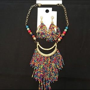 Lower Price Beaded Necklace and Earrings